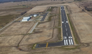 Commerce Municipal Airport after upgrades were completed.